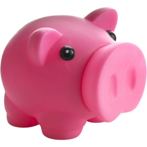 Sparschwein  'Piggy' aus Kunststoff | Rosa