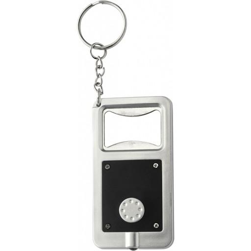 Schlüsselanhänger 'Kalvin' aus Kunststoff | Schwarz