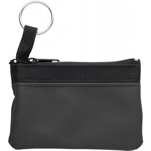 Schlüsseletui 'Zip' aus PU/Nylon   Schwarz