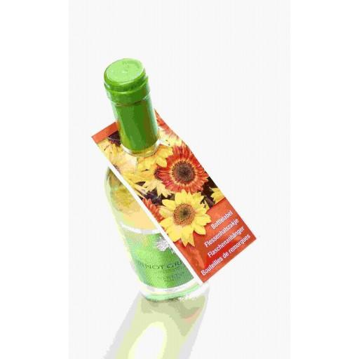 Samentütchen als Flaschenanhänger