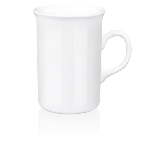 Porzellan-Tasse Sheraton, weiß 28 cl