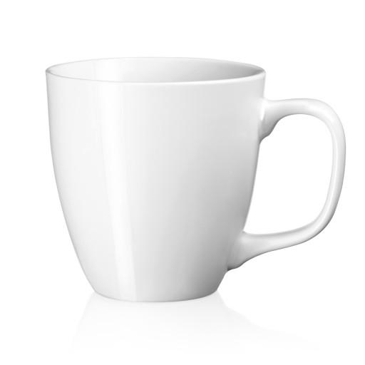 Porzellan-Tasse Sambia, weiß 41 cl