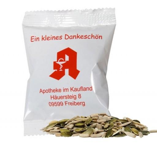 Bio Kürbis- und SonnenblumenkernMix, ca 15g, Midi-Tüte | weiße Folie