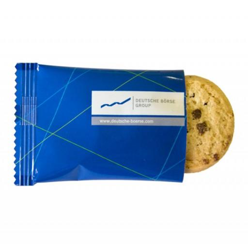 Bio Cookie Schoko-Orange, ca. 7g, Flowpack | transparente Folie