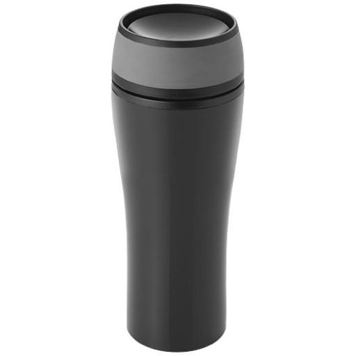 Curve 400 ml auslaufsicherer Isolierbecher | Schwarz,Grau
