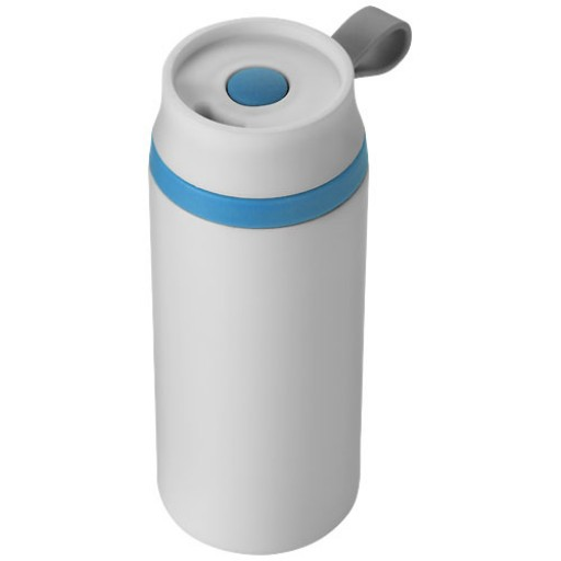 Flow 350 ml auslaufsicherer Isolierbecher | Weiss,Blau