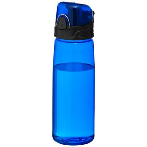 Capri 700 ml Tritan™ Sportflasche | Transparent Blau