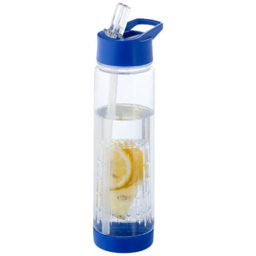 Tutti frutti 740 ml Tritan™ Trinkflasche mit Fruchtsieb | Transparent,Blau