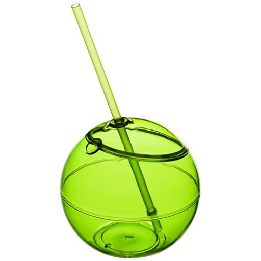Fiesta 580 ml Trinkball und Strohhalm | Limone