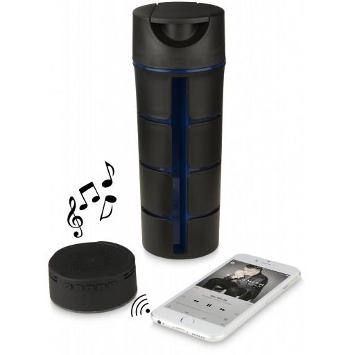 Rhythm Bluetooth® Audio Trinkflasche   Schwarz