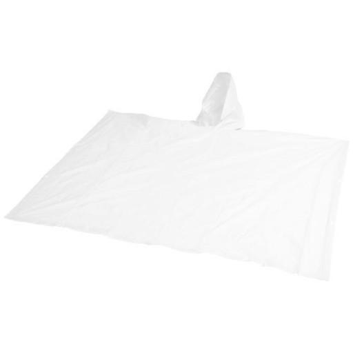 Anpassbarer Regenponcho mit Hülle | Weiß