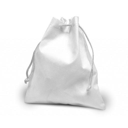 Lunchsäckerl Hasselt mit Zuziehkordel | Weiß mit Ihrem Werbedruck