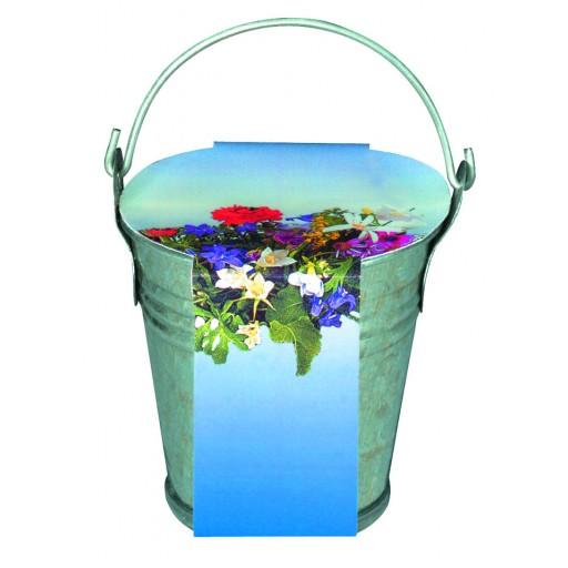 Zink-Eimerchen Blumenstrauß