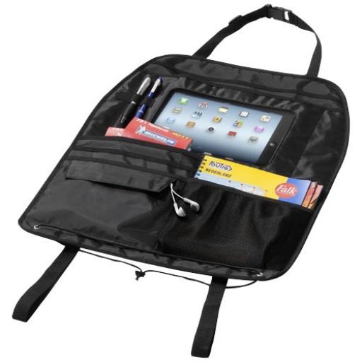 Rücksitz Organiser mit iPad Fach | Schwarz