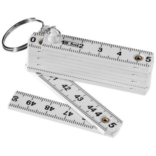 Schlüsselanhänger Zollstock 0,5 m | Weiß