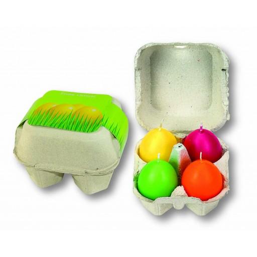 Osterei-Packung mit 4 bunten Ei-Kerzen
