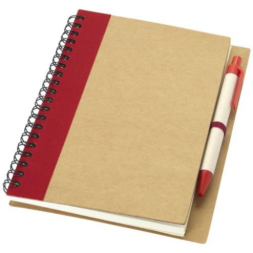 Priestly Notizbuch mit Stift | Rot