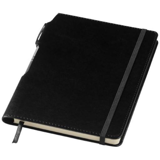 Panama Notizbuch und Stift | Schwarz