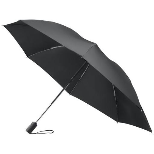 23 Zoll, 3-teiliger Wende-Regenschirm, öffnet automatisch   Schwarz