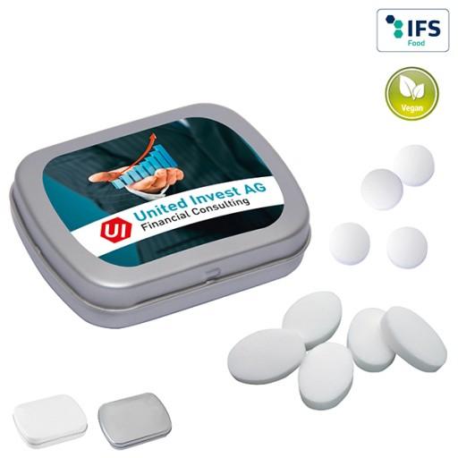 MINI-Klappdose mit Pfefferminzpastillen | 1-farbig