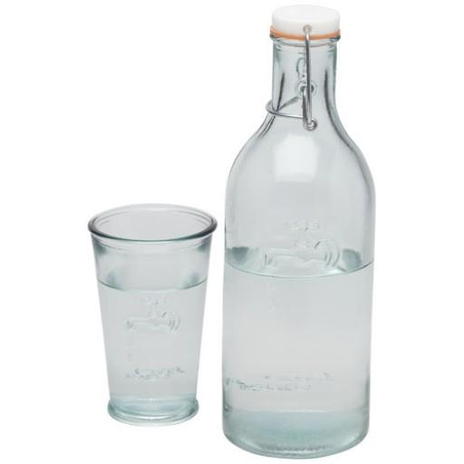 Wasserkaraffe mit Glas | Transparent/Klar