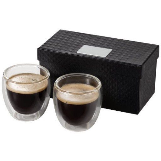 Boda 2 teiliges Espresso Set | Transparent/Klar