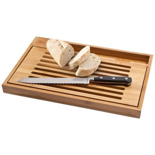 Bistro Schneidbrett mit Brotmesser | Braun
