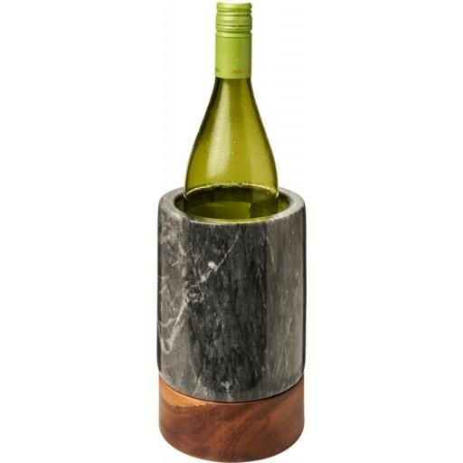 Harlow Weinkühler aus Marmor und Holz | Holz,Grau