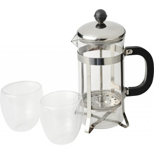 Cooper French Press Set | Silber,Transparent