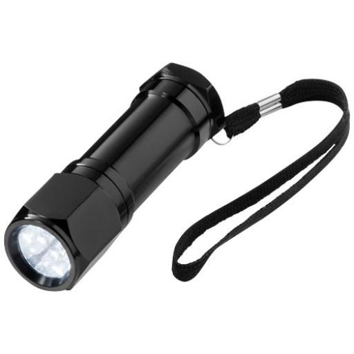 Taschenlampe mit 8 LEDs | Schwarz