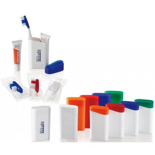 Zahnpflege-Set 2Go | Weiß, Zahnbürste Blau