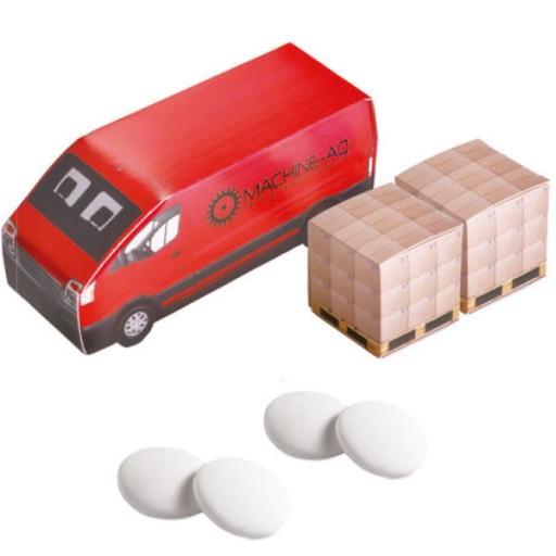 Lieferwagen mit 2 Pfefferminz-Kartons