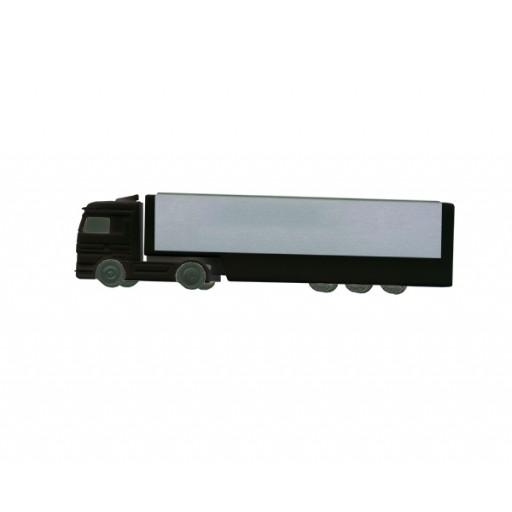 USB-Stick LKW mit Alu-Auflieger | Schwarz