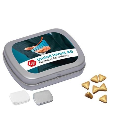 MINI-Klappdose mit Pfefferminz Gold-Nuggets