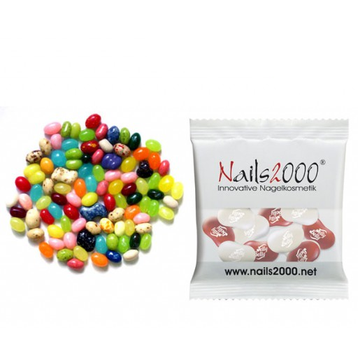 18 Gramm Original Jelly Belly Beans | Transparente Folie | 1-farbiger Druck