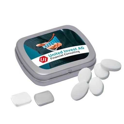 MINI-Klappdose mit Pfefferminzpastillen