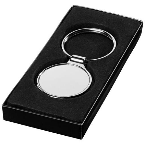 Orlene runder Schlüsselanhänger | Silber