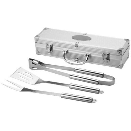 Salay 3 teiliges Grillset | Silber