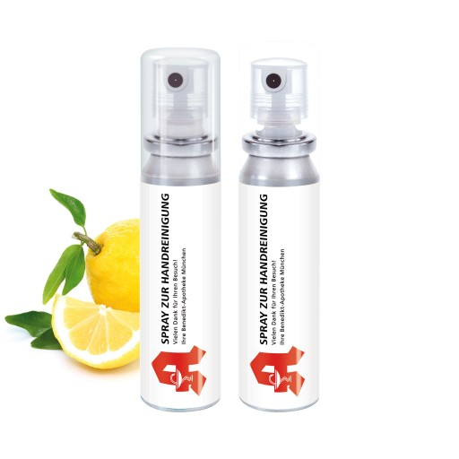 Weitere Ansicht Handreinigungs-Spray, 20 ml, Body Label