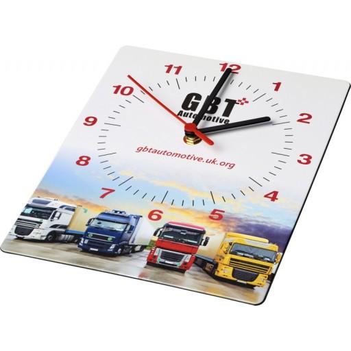 Brite-Clock® rechteckige Wanduhr | Schwarz