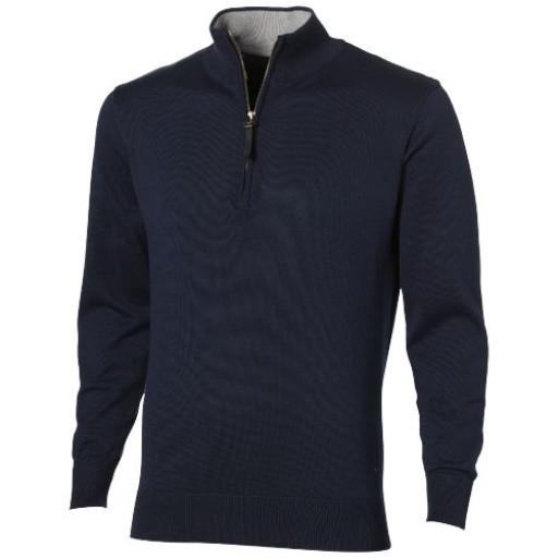 Set Pullover mit 1/4 Reißverschluss   Blau   S