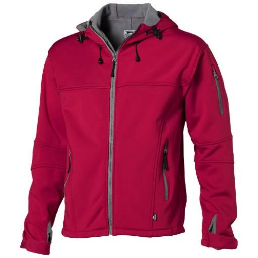 Match Softshell Jacke mit Kapuze   Rot   S