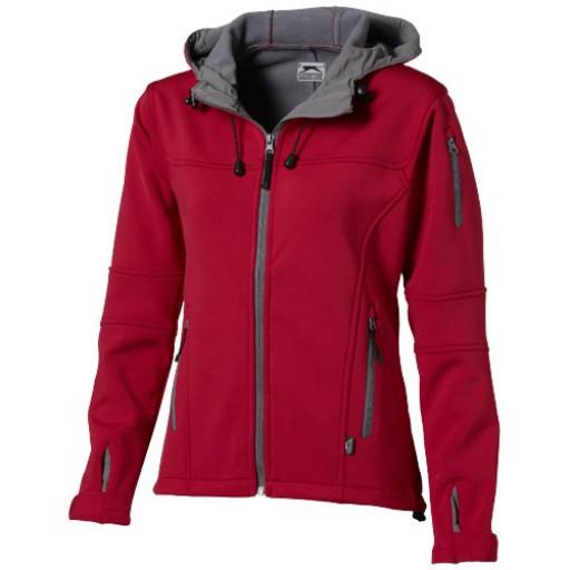 Match Damen Softshell Jacke mit Kapuze | Rot | S