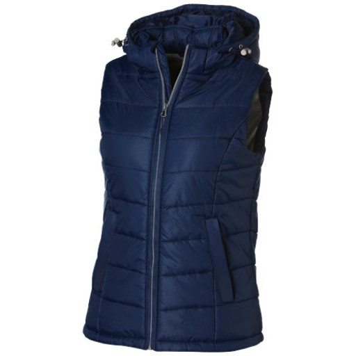 Mixed Doubles Damen Bodywarmer mit Kapuze | Blau | S