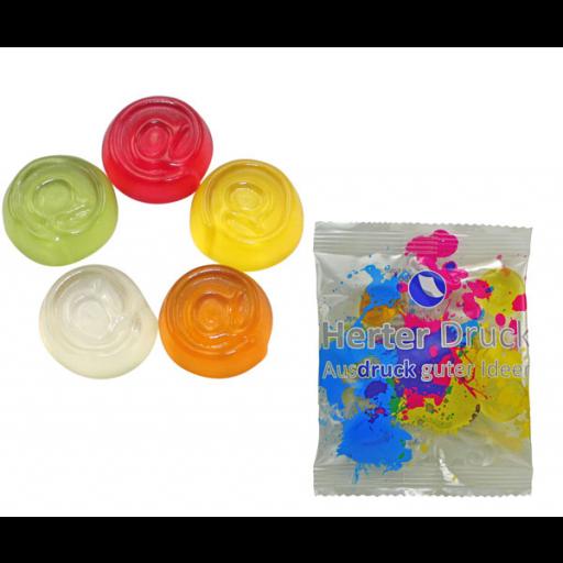 HARIBO Mini-@-Zeichen 6,5 Gramm | Transparente Folie | 1-farbig