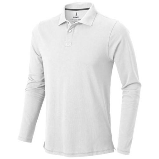 Oakville Langarm Poloshirt | Weiß | XS