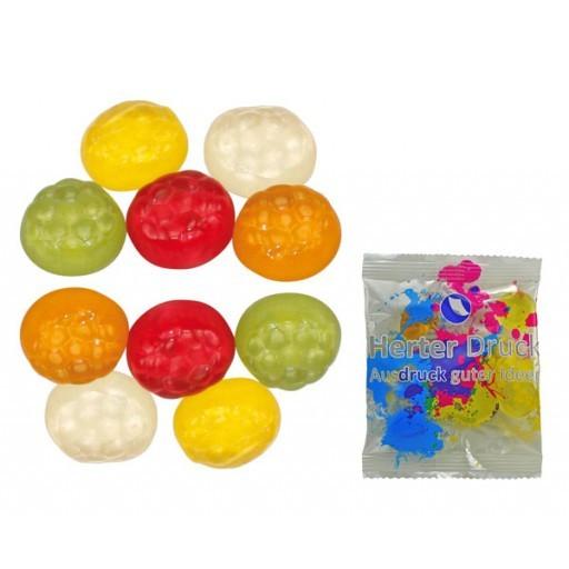 HARIBO Mini-Fußbälle 6,5 Gramm | Transparente Folie | 1-farbig