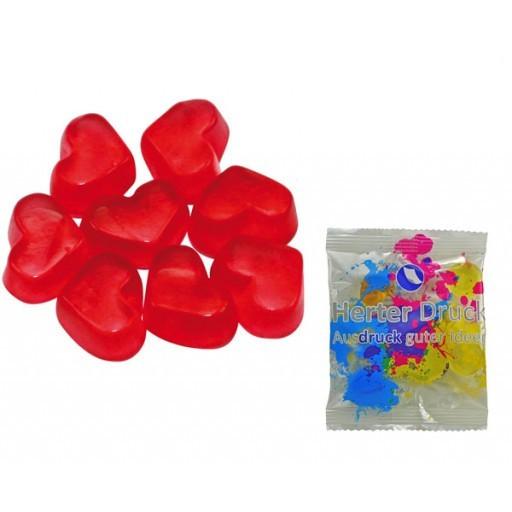 HARIBO Mini-Herzen, rot 6,5 Gramm | Transparente Folie | 1-farbig