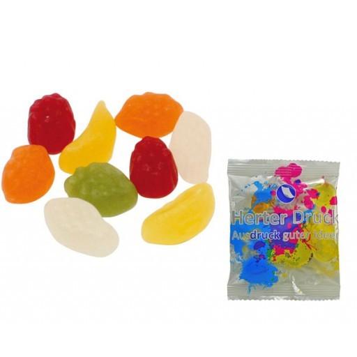 HARIBO Mini-Tropi-Frutti 6,5 Gramm | Transparente Folie | 1-farbig
