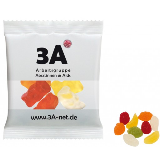 HARIBO Mini-Tropi-Frutti 20 Gramm | Transparente Folie | 4-farbig